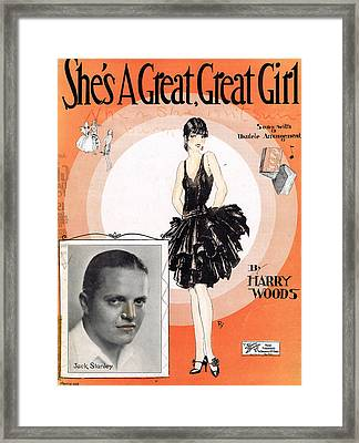 She's A Great Great Girl Framed Print