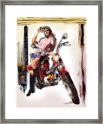 She's So Heavy Framed Print by Russell Pierce