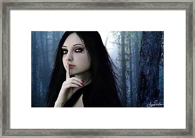 Shhh Framed Print by Adro Von Crow