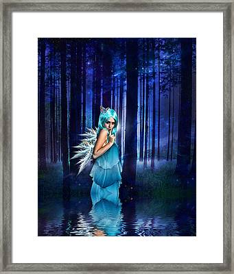 Shhhhh We Exist Framed Print