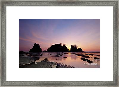 Shi Shi Beach Framed Print by Keith Kapple