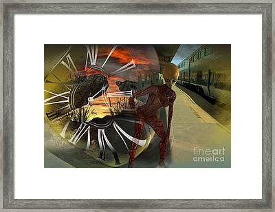 Shifting Dimensions Framed Print by Shadowlea Is