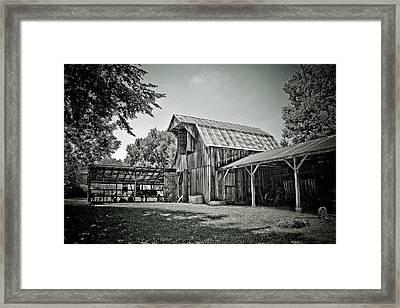 Shiloh Barn Framed Print by Toni Hopper