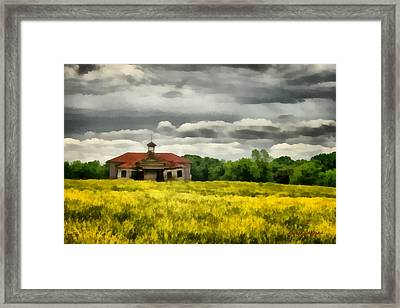 Framed Print featuring the painting Shiloh School by Lynne Jenkins
