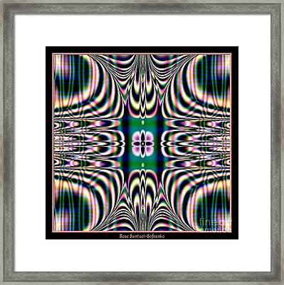 Shimmering Plaid Fractal 66 Framed Print by Rose Santuci-Sofranko