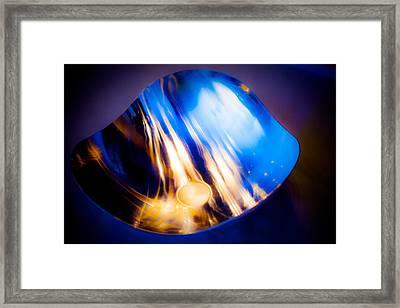 Shimmering Silver Framed Print by Hakon Soreide
