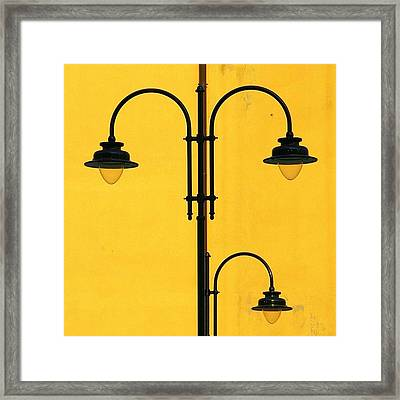 Shine On.. #italy #lamppost Framed Print by A Rey