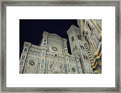 Shining In The Night Framed Print by