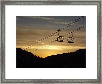 Shining Framed Print by Michael Cuozzo