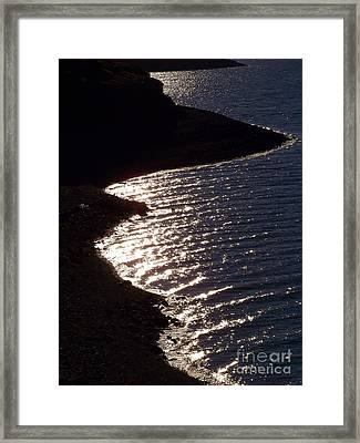 Shining Shoreline Framed Print