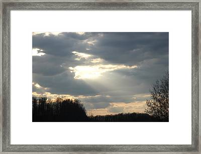 Shining Through Framed Print by Static Studios