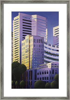 Shining Towers Framed Print by Duane Gordon
