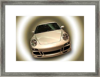 Shiny New Car With Fancy Background Framed Print by Cindy Haggerty