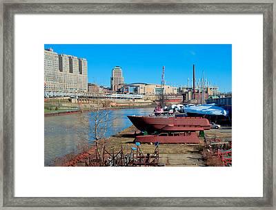 Ship Ashore Framed Print