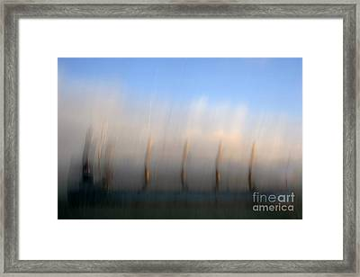 Ship At Harbour  Framed Print by Catherine Lau