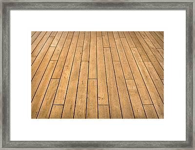 Ship Deck Framed Print