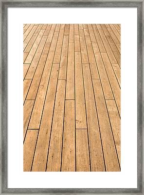 Ship Deck Used For Background Framed Print
