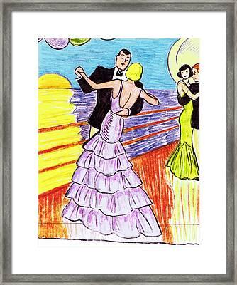 Shipboard Dancers Framed Print