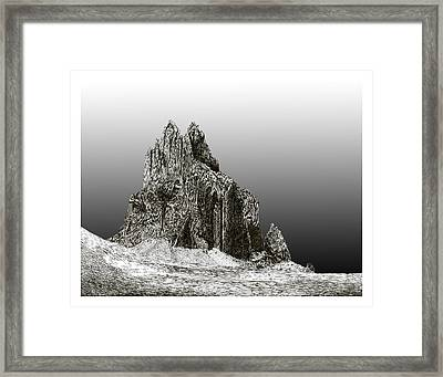 Shiprock Mountain Four Corners Framed Print by Jack Pumphrey