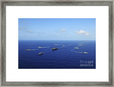 Ships From The Ronald Reagan Carrier Framed Print