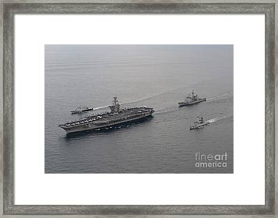 Ships From The U.s. Navy And The Royal Framed Print