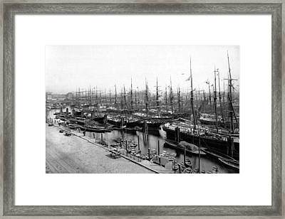 Ships In Harbour 1900 Framed Print