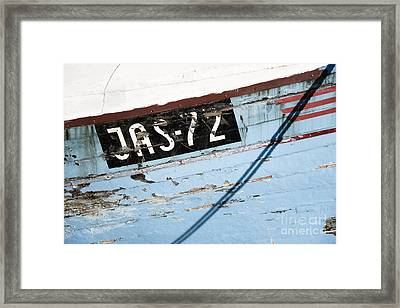 Framed Print featuring the photograph Ships' Number by Agnieszka Kubica