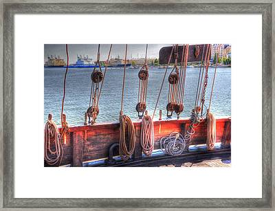 Shipshape Framed Print by Barry R Jones Jr