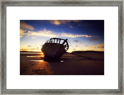 Shipwreck At Sunset, Co Donegal, Ireland Framed Print by The Irish Image Collection