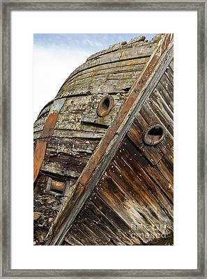 Shipwreck In Sweden Framed Print