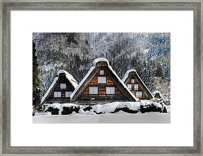 Shirakawago Framed Print by Kean Poh Chua