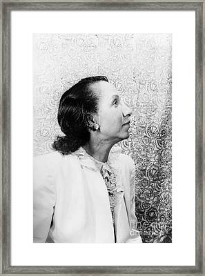 Shirley Graham Du Bois Framed Print by Granger