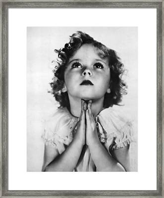 Shirley Temple, Ca. Early-mid 1930s Framed Print by Everett