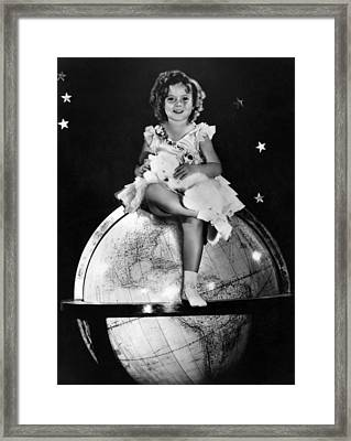 Shirley Temple, Fox Film Portrait, Ca Framed Print by Everett
