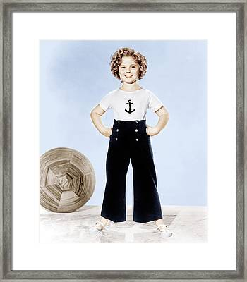 Shirley Temple, Studio Portrait, Ca Framed Print by Everett