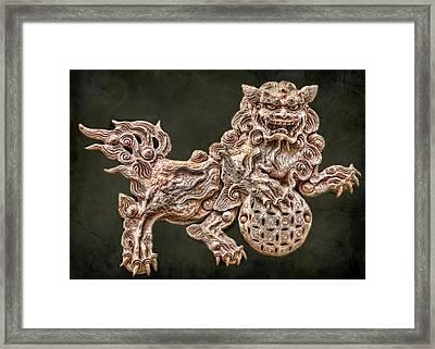 Shisa Framed Print by Karen Walzer
