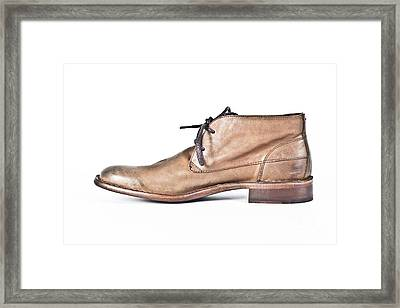 Shoe Framed Print by Chavalit Kamolthamanon
