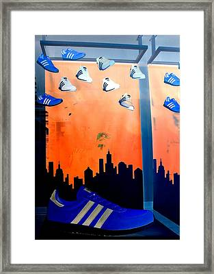 Shoe For Bigfoot Framed Print by Randall Weidner
