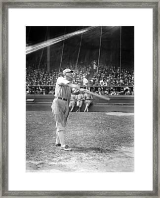 Shoeless Joe Jackson, Batting Practice Framed Print by Everett