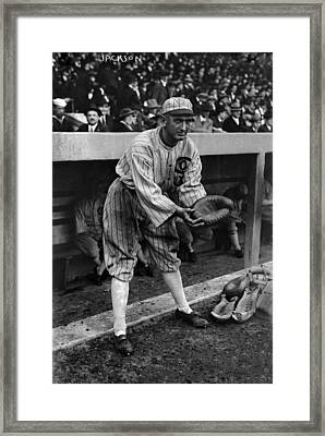 Shoeless Joe Jackson, Pretending Framed Print
