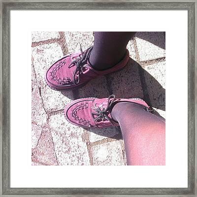 #shoes # Framed Print