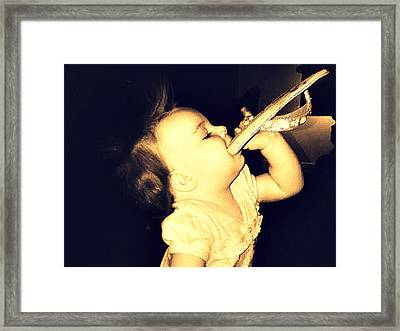 Shoes Are A Girl's First Love Framed Print by Deborah Shultis