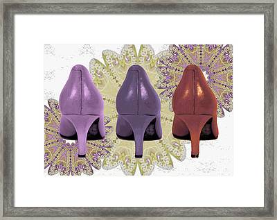 Shoes In Muted Shades Framed Print