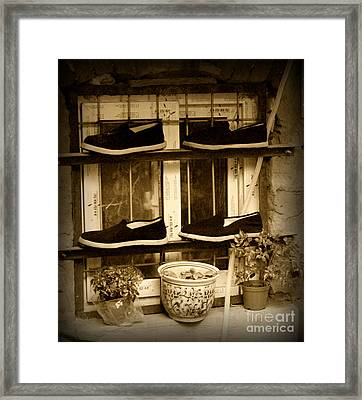 Shoes Framed Print by James Yang