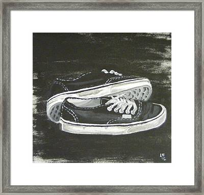 Shoes Framed Print by Laura Evans