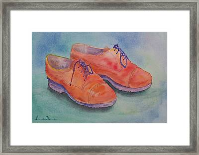 Shoes Of A Different Colour Framed Print by Laurel Thomson