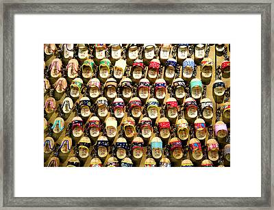 Shoes Framed Print by Yew Kwang
