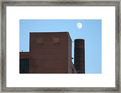 Shoot The Moon Framed Print by Artist Orange