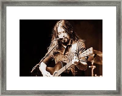 Shooter Jennings - Blurring The Lines Framed Print