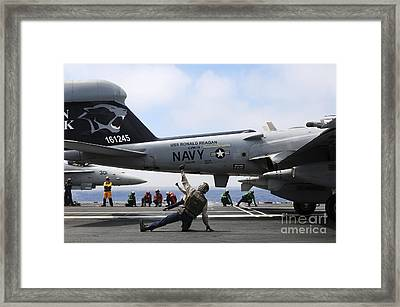 Shooters Signal Satisfactory Final Framed Print